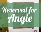RESERVED FOR ANGIE - burlap art print
