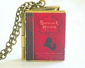 Sherlock Holmes, Sir Arthur Conan Doyle, Dr Watson, Fictional Private Detective, Scotland Yard, Fictiona Mystery Writing, Book Locket