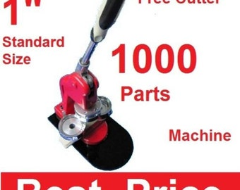 "1"" 25mm Artec Button Maker Machine + 1,000 Parts + Circle Cutter"