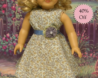 Meadowsweet - sleeveless dress for American Girl doll **Sale**