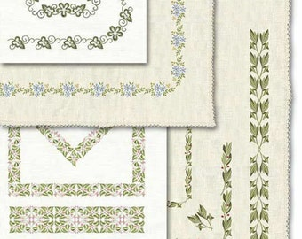 Botanical Borders Machine Embroidery Designs 290d