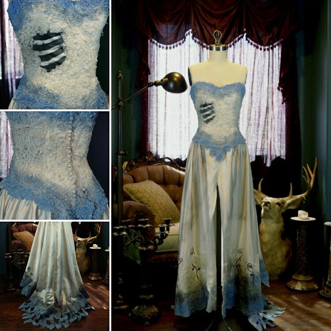 OOAK Corpse Bride Cosplay Costume Halloween Emily Tim Burton