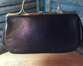Totally 60s Black Leather Handbag