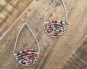 Multi-gemstones Multi-color Long Earrings
