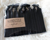 Hair Tie Set in Black - 8 Hair Ties | Hair Tie Bracelets by Mandizzle