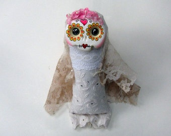 Primrose - an original Day of the Dead doll ornament