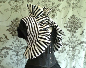 "Clear Out Sale Circus stripe oversized ruffle jacket-size large to fit up to 21"" shoulder width"