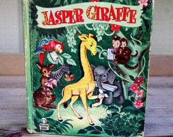Vintage Children's Tell-A-Tale Book JASPER GIRAFFE