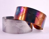 CLEARANCE - steel raven cuff, stainless steel bangle, medium surgical steel cuff