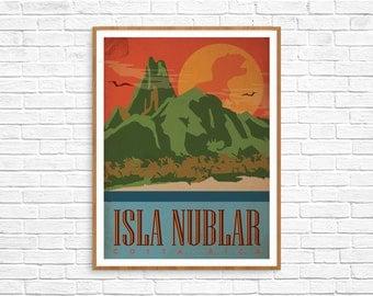 Jurassic Park Poster - Isla Nublar 8.5x11