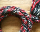 Red and Black wool jumprope- Ready to ship!