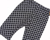 Quatrefoil - Black and White Pants - Geometric Pattern - Baby Pants - Baby Boy Pants - Baby Girl Pants - Nb - 3m - 6m - 12m- 18m