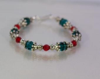 Swarovski Crystal Jewelry - Holiday Bracelet - Available in All Swarovski Crytal Colors