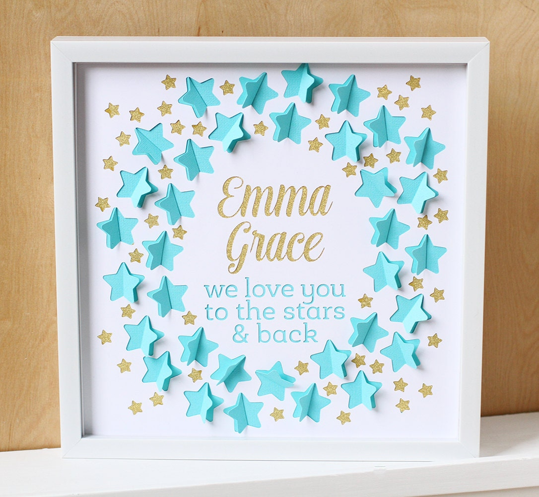 Baby Showers Gifts For Guests: Baby Shower Guest Book Love You To The Stars Nursery Art