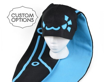 Extra-Long-Eared Cyberbunny Cyberpunk Bunny Fleece Hat with Custom Color Options