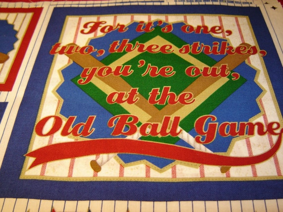 Fabric Baseball Panel Sports Collage Wilmington Prints