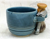 Shaving Mug in Dusty Blue