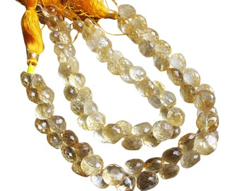 Citrine Briolette Beads, Luxe AAA, Onion Briolettes, 6-6.5mm, November Birthstone, SKU 2052A