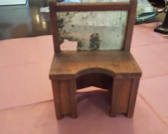 Vintage Handmade Antique Vanity Dressing Table Miniature Dollhouse Display