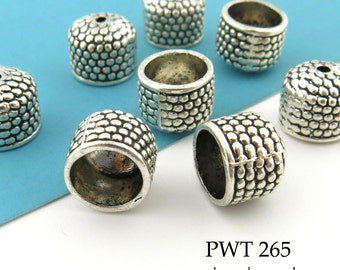 Large Pewter Bead Cap, End Cap, 10mm Antique Silver End Cap (PWT 265) 6pcs BlueEchoBeads