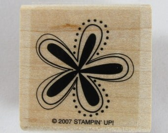 Flower Stampin Up! Rubber Stamp #RS145