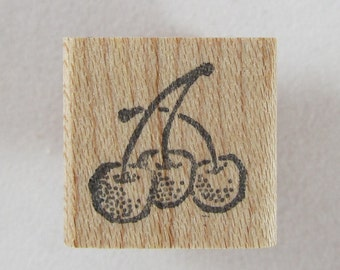 Too Much Fun - Cherries Rubber Stamp #RS198