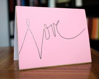 Foiled Love Card Handlettering