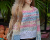 TinyOutfit : SD BJD Hand knitted oversized sweater