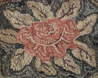 Cabbage Rose rug hooking pattern