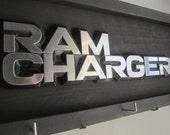 RAM CHARGER hood ornament  -  Vintage automobile emblem - sign & key-hat hanger no. 54