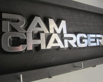 RAM CHARGER  - Dodge truck emblem - sign & key-hat hanger no. 54