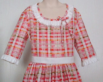 Girls Colonial Tea Dress  Civil War Costume  Pioneer Size 10/12  -    -    Ready to Ship