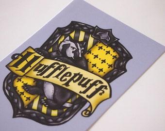 Hufflepuff House Shield - Harry Potter - Postcard