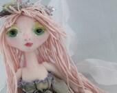 The Original Kaerie Faerie Art Doll, Winter Fairy, soft sculpture doll