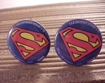 Superman Cuff Links / Comic Book Cufflinks