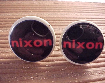 Cuff Links Nixon Vintage Political Campaign Buttons - Free Shipping to USA