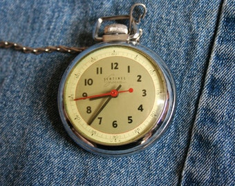 Vintage Pocket Watch Men's Timepiece Grandpa Daddy Working Man