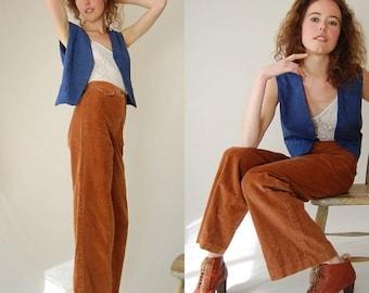 SALE SALE Preppy Menswear Vest Vintage Smokey Blue Preppy Folk Wool Menswear Waistcoat Vest (s m)