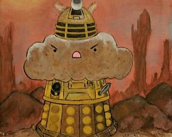 Pop Art Print Kawaii Muffin Painting Dalek Exterminate Kawaii Art Fan Art Dr Who Nerd Geek 8 x 10 Welcome to Skaro!