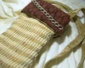 Market bag, Cross Body Handbag Fabric Bag Small Tote Recycled Upholstery Handbag Hobo Bag Fashion bag gift for her tarot bag wine sack