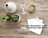 Square Business Card Printing REORDER - FREE SHIPPING