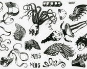 MOUNTED Rubber Stamp Set Z103 - Wings and Things