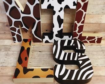Animal Letters cheetah letters zebra letters leopard letters giraffe letters zebra letters safari letters block letter