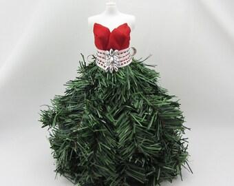 Christmas Decorative Dress Form,  Mini Dress Form, Tabletop Dress Form, Embellished Dress Form