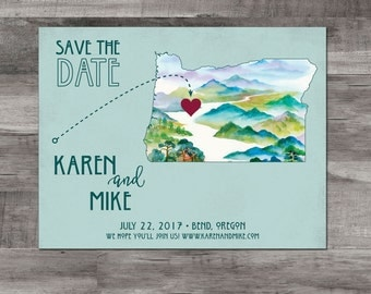 Oregon Save the Date – Destination Wedding Save the Date - Bend, Oregon