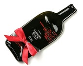 Red Wine Melted Bottle Cheese Tray / Klinker Brick Zinfandel by Mitchell Glassworks / Winery Wedding / Eco Friendly Gift / Christmas Gift