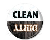 "50% OFF - Magnet 2.25""- Clean Dirty Dishwasher Magnet MR395"