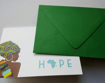 Note cards, Blank note cards, Greeting cards, Blank greeting cards, African cards, Thank you cards, Birthday Cards, African note card, Hope