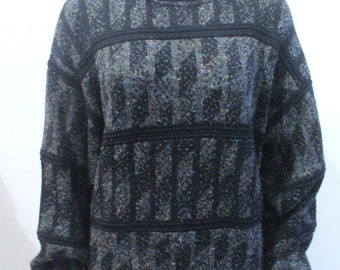 Vintage Black Patterned Sweater
