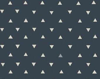 boy baby bedding-  blue crib sheet, mini crib sheet , blue changing pad cover-  dark blue triangle- triangle crib bedding